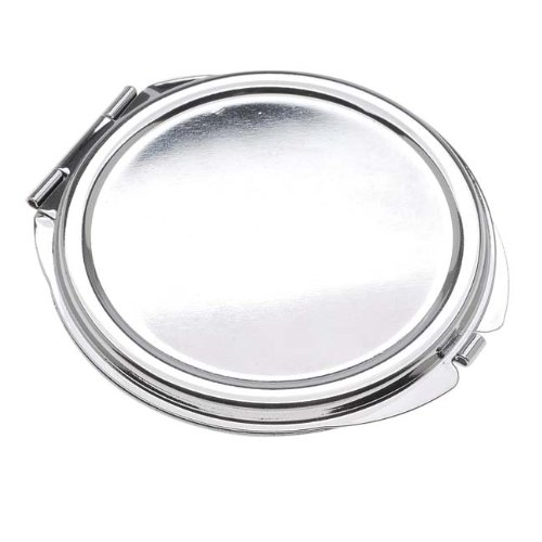 Beadaholique Silver Tone Compact Mirror With Bezel Leaf And Flower Patterns - -