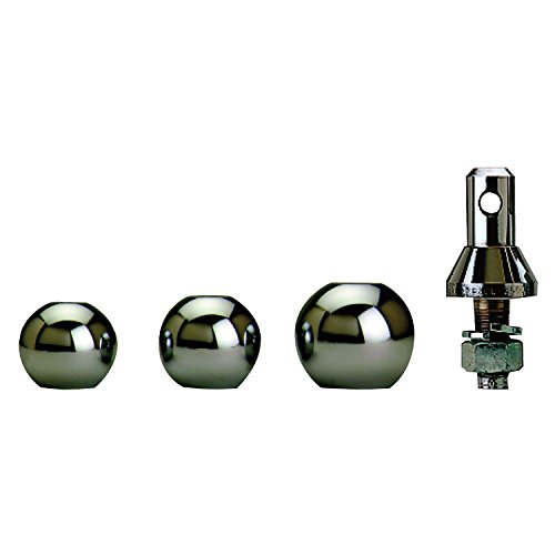 Convert-A-Ball 902B Stainless Steel Shank with 3 Balls - (Interchangeable Hitch Ball)