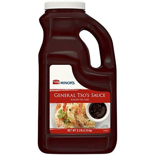 Minor's General Tso Sauce, Stir Fry Sauce, Ginger Garlic Sesame Flavor, 5.2 lb Bottle ()