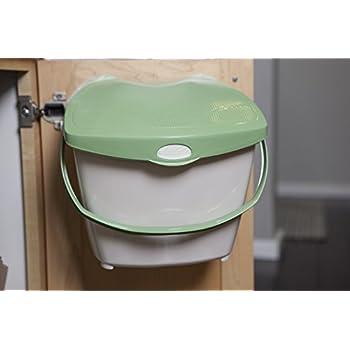 Perfect Zero Waste Mountable Kitchen Compost Bin   2 Gallon, Odor Free, Countertop,  Under