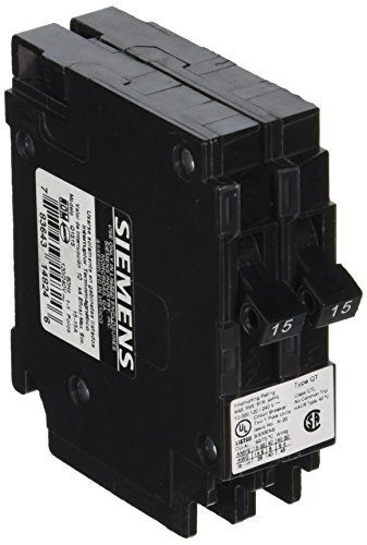 Siemens Q1515 Two 15-Amp Single Pole 120-Volt Circuit Breakers, for use only where Type QT breakers are allowed by Siemens