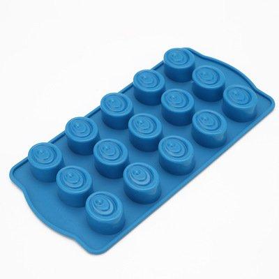 Moldes de silicona, moldes para pasteles moldes de chocolate ovales resistentes a altas temperaturas,