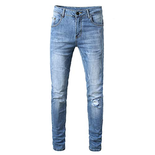 Acne Jeans Dress - iHPH7 Jean Relaxed Straight Fit Fashion Skinny Jeans Distressed Slim Elastic Jeans Denim Biker Jeans Mens (32,12- Blue)