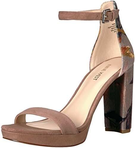 Nine West Women's Dempsey Fabric Heeled Sandal