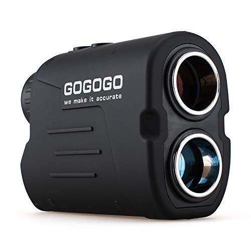 Gogogo Sport Laser Golf/Hunting Rangefinder, 6X Magnification Clear View 650/900 Yards Laser Range Finder, Accurate Range Scan, Slope Function, Pin-Seeker & Flag-Lock, Easy-to-Use Range Finder