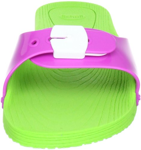 Scholl Pop, Chaussures basses mixte adulte - Vert (Lime Green/Pink/White), 40 EU (6.5 UK)