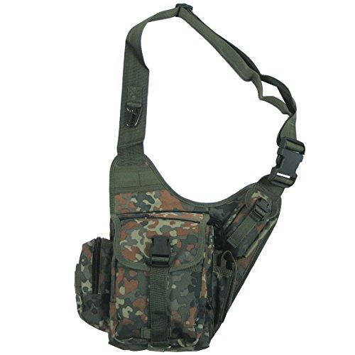 Pack Combat Shoulder 9 Bw Bag Travel Flecktarn Army Tactical Patrol Pockets Camo F5Iqwwd