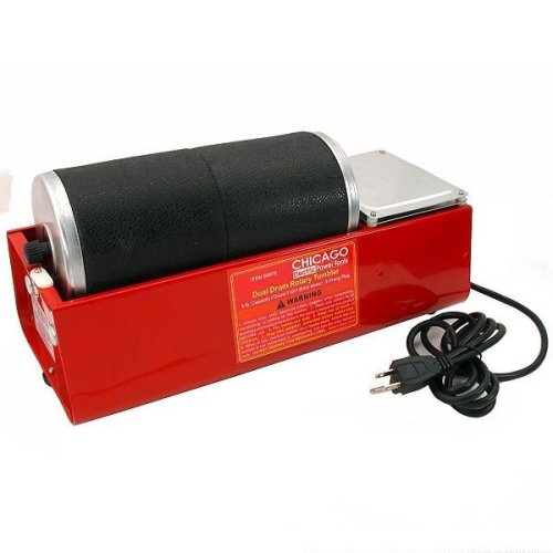 6 Lb Rotary Dual Drum Rock Tumbler Lapidary Polisher by Chicago Pneumatic