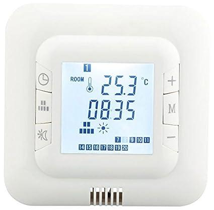 Hiwell - Termostato digital para suelo radiante, adaptado a la mayoría de sistemas de calefacción