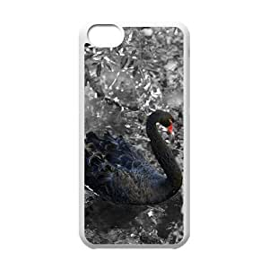 C-EUR Print Swan Pattern PC Hard Case for iPhone 5C