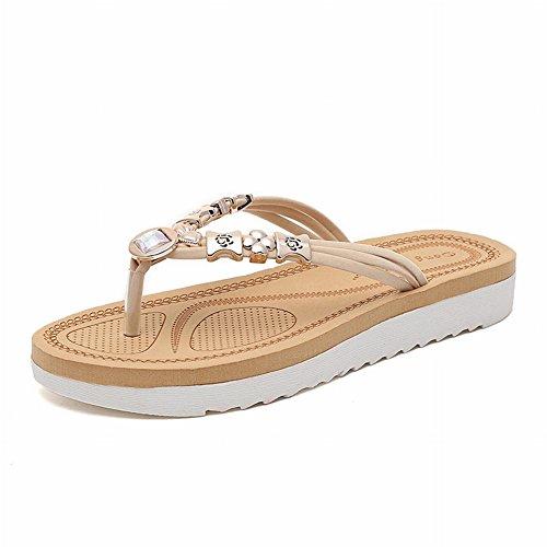 con estivi e pantofole sandali Beige piatti Sandali JIA beige gUExqRFw