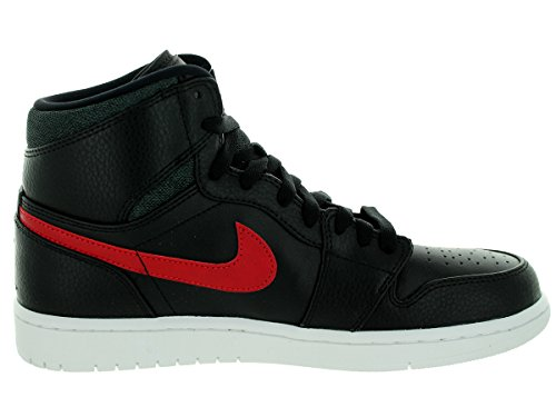 Nike Air Jordan 1 Retro High, Scarpe Sportive Uomo Black, Gym Red, Blk, Wht