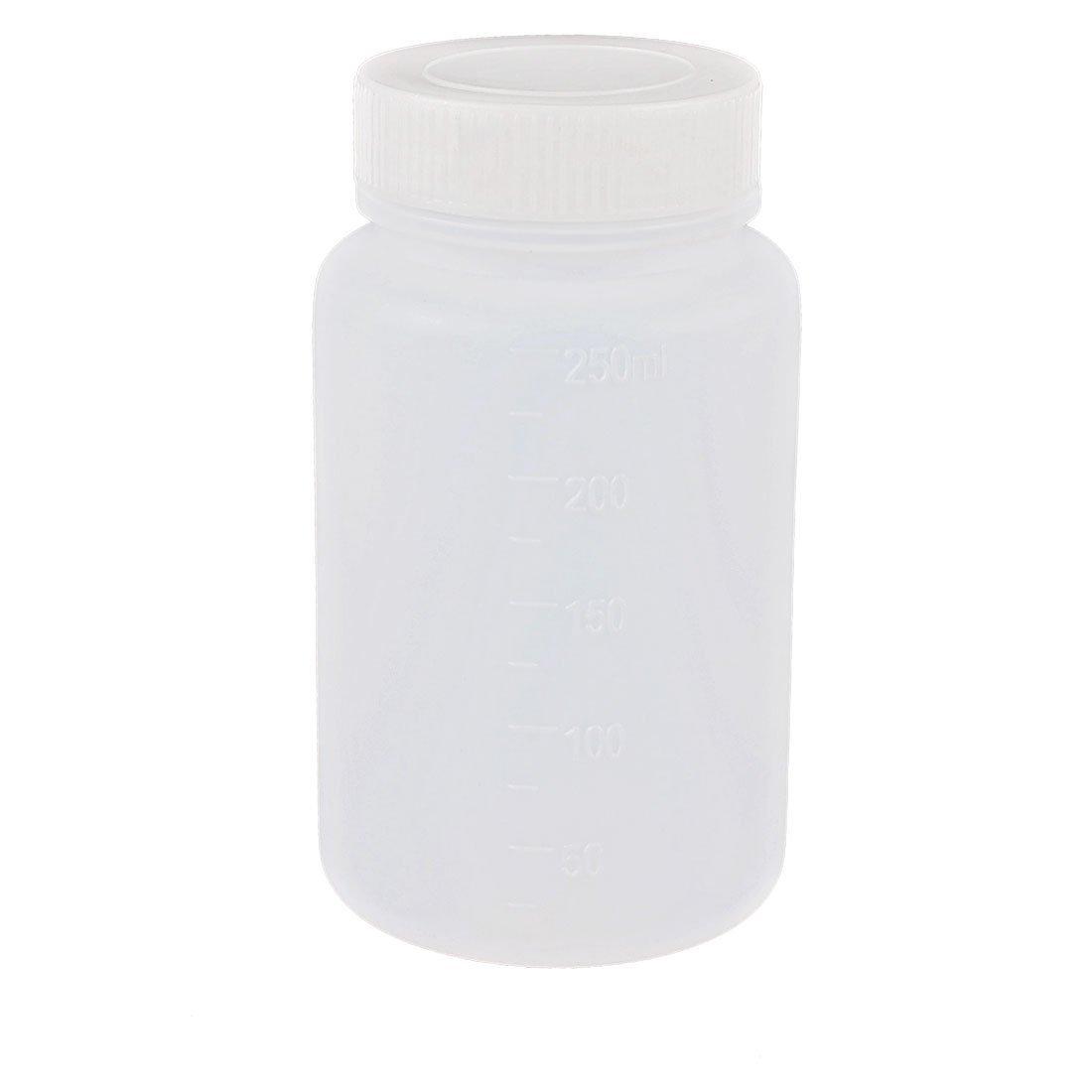 250mL Capacity Laboratory Storage Plastic Widemouth Bottle White a13042200ux0009