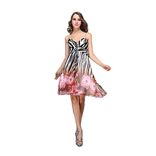 Ital Cocktail bei Damen Rosa Festamo Kleid Für Design AUSzffBcyW