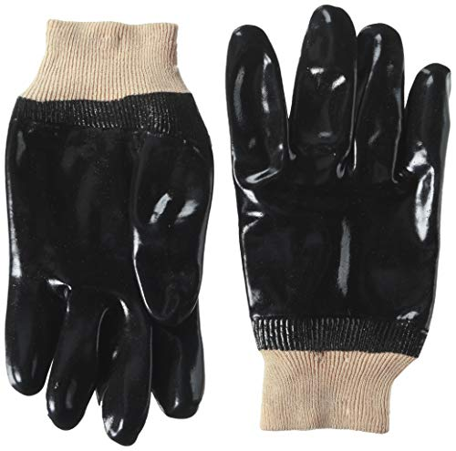 Midwest Gloves & Gear Black PVC Coated Chemical Resistant Glove, 710, Size: ()