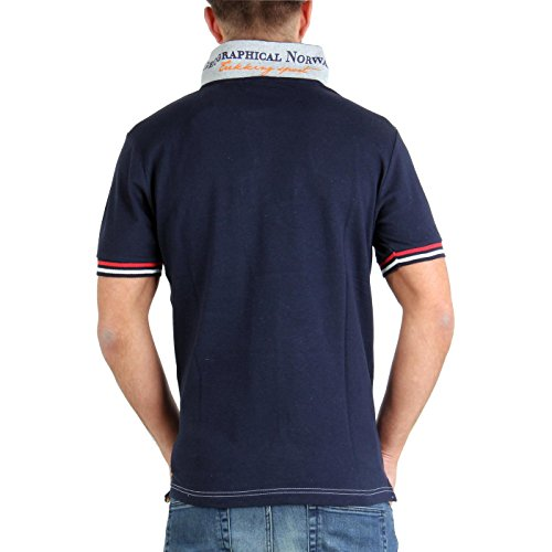 GEOGRAPHICAL NORWAY Herren Kurzarm Polo Shirt Kyer SS Navy Größe S