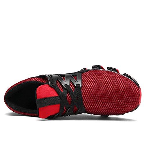 Corsa Moda Scarpe da Sportive Scarpe Leggera Uomo da LSGEGO Traspirante Sneaker Casual da Ginnastica Passeggio da Arancione nEwXqx