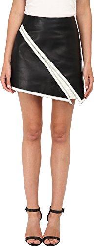 Neil Barrett Women's Suede Skirt Black/White XS