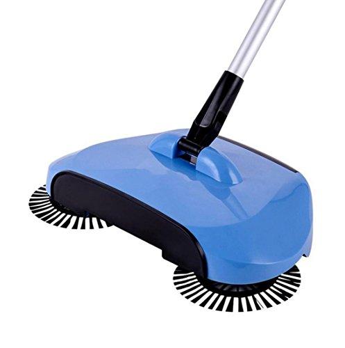 Transer 360 Rotary Peaceful Use Magic Manual Telescopic Floor Dust Sweeper besom broom (Blue)