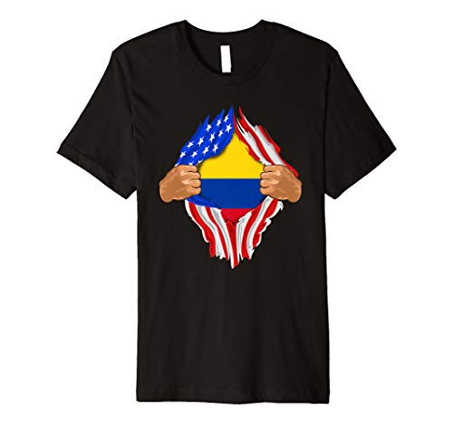 (Colombian Blood Inside Me T-Shirt | Colombia Flag Gift)