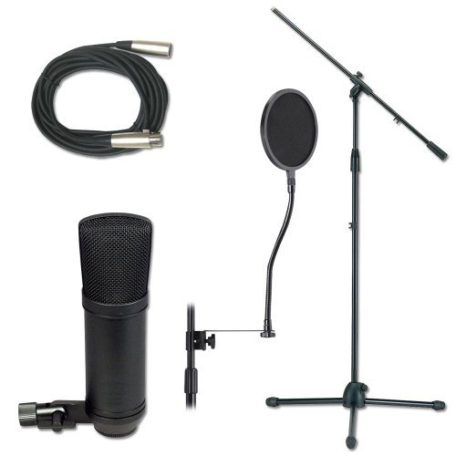 Economy Microphone Cable (Economy Studio Microphone Stand And Cable Pack Mic Stand Package)