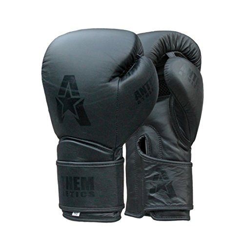 - Anthem Athletics STORMBRINGER Fight Gloves - Muay Thai, Boxing, Striking, Kickboxing, Leather - Black - 14 oz.