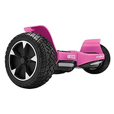"GOTRAX Hoverfly XL All Terrain Hover Board 8.5"" Solid Rubber Tire UL2272 Certified Self Balancing Off Road Hoverboard (Pink)"