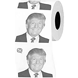 Funny Donald Trump Novelty 3 Ply Toilet Paper Roll Humor Collectible Gag Gift, 250 Sheets