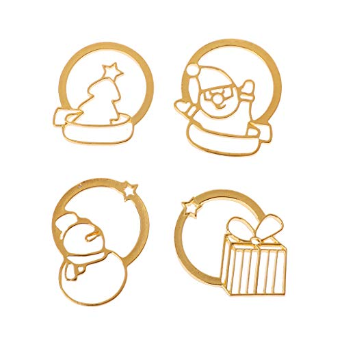 Misright 4Pcs Christmas Santa Claus Key Ring Open Back Bezel Pendant, Open Back for Resin,Open Back Frame for UV Resin Crafts Jewelry -