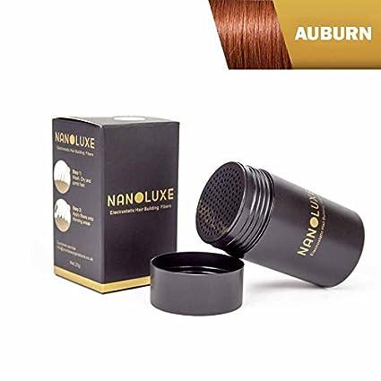 Fibras de cabello Auburn Nanoluxe de 25g