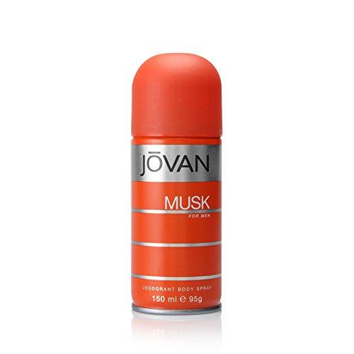 Jovan Musk Déodorant vaporisateur pour le corps pour les hommes, 5 onces