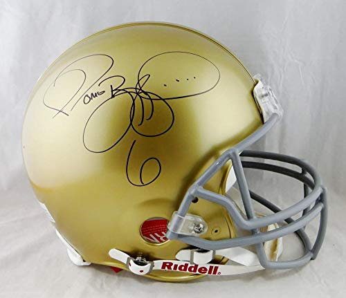 Jerome Bettis Autographed Notre Dame F/S Authentic Riddell Helmet - Beckett Auth Black