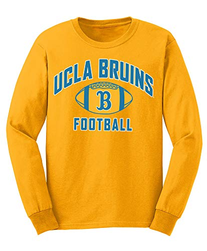 Elite Fan Shop NCAA Men's Ucla Bruins Football Long Sleeve T-shirt Team Color Ucla Bruins Gold Large ()