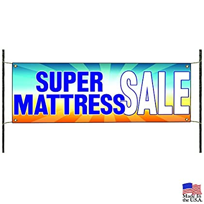 Image of Super Mattress Sale Home Business Promotional Advertising Vinyl Banner Sign Home and Kitchen
