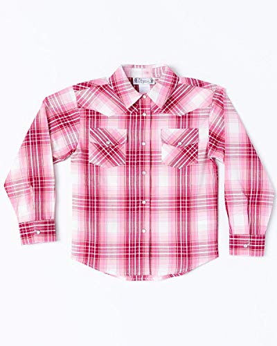 (Shyanne Toddler-Girls' Lurex Plaid Core Long Sleeve Western Shirt Pink 2T)