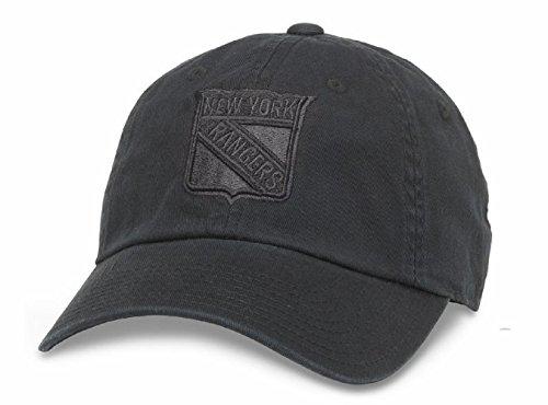 Tonal Lines - American Needle New York Rangers NHL Blue Line Tonal Adjustable Dad Cap (Black)
