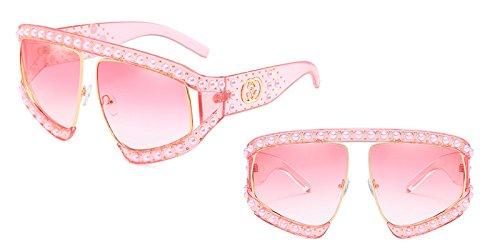 mujer enormes sol Unas C13 gafas UV gafas tonos gradiente solar Protección G139 sol de C3 Sunglasses de señoras TL XEqxYY