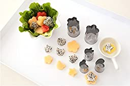 Set of 8 - Stainless Steel Vegetable Cutters - Multi Shapes Cake Vegetable Fruit Cutter Mold - Adorable Mini Cookie Chocolate Fruit Vegetables Pie Crust Decor