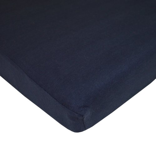 TL Care Supreme 100% Jersey Knit Mini Crib Sheet, Navy, 24