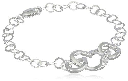 Hot Diamonds - DL265 - Bracelet Femme - Plaqué Rhodium - Diamant