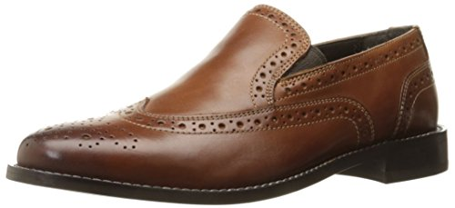 - Nunn Bush Men's Norris Wingtip Double Gore Slip-On Loafer, Cognac, 10