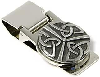 Irish Money Clip Triple Trinity Steel & Pewter Made in Ireland