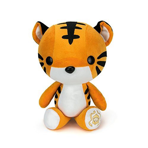 Bellzi Orange Tiger Stuffed Animal Plush Toy - Adorable Plushie Toys and Gifts! - Tiggri (Sized Wool Orange Large)