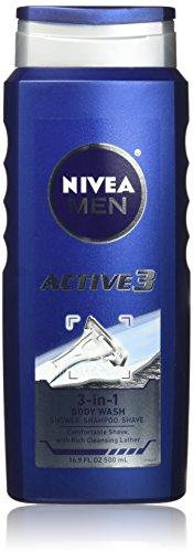 Nivea For Men Active3 Body Wash – 16.9 oz – 2 pk