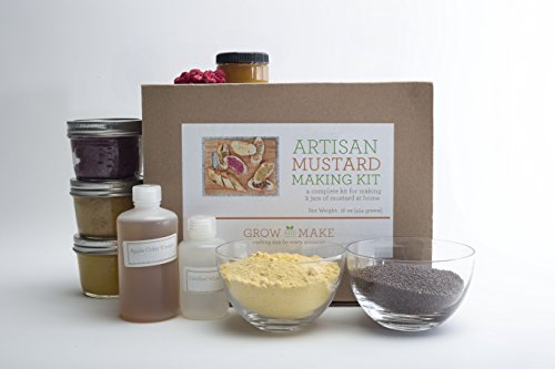 Artisan Mustard Making Kit - Includes everything needed make 3 mustards