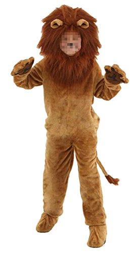 Deluxe Plush Lion Adult Costumes (Ameyda Halloween Unisex Adult Child Kids Deluxe Lion Cartoon Animal Costume)