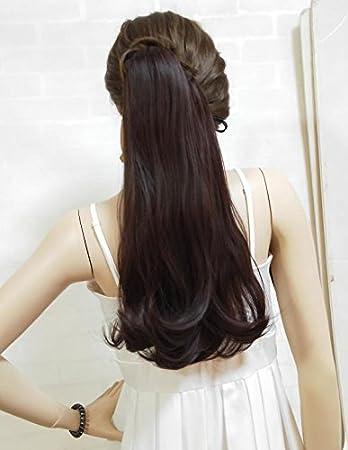 amazon com k ryssma wavy clip in thick claw drawstring ponytail