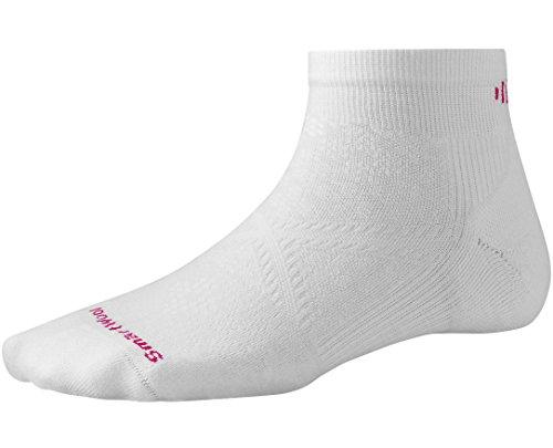 Smartwool Women's PhD Run Light Elite Low Cut Socks (White) Large