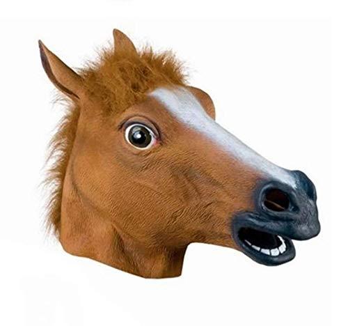 chajijung Horse Head mask Horse mask Jiangnan Style Dog Ma Jun Halloween COS mask Animal Head Cover]()
