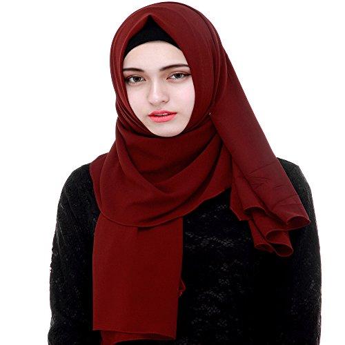 Women Muslim Thick Chiffon Long Dress - 2